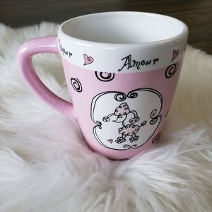 B2G1 VTG Ganz Paris Amour French Poodle Coffee Mug
